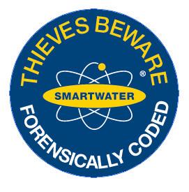 Smartwater MärkDna rund dekal