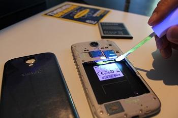 Smartwater MärkDna märking av mobil